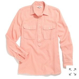 Madewell Market popover in clipdot peach XS